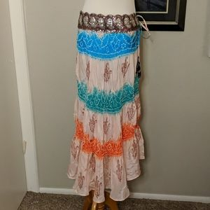 Sweet by Miss Me SILK colorful Indian skirt